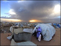 A camp in Darfur, pic by World Vision