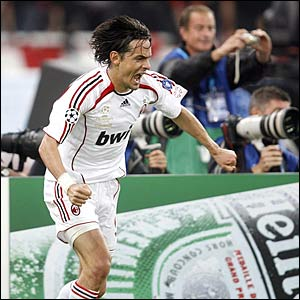 Pippo Inzaghi celebrates opening goal