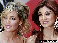 Danielle Lloyd and Shilpa Shetty