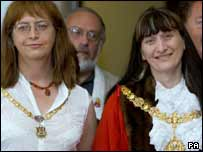 Mayor Jenny Bailey, right, and Mayoress Jennifer Liddle
