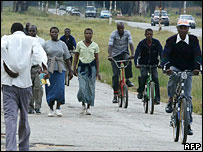 People walking and cycling to work (File photo)