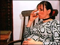 pregnant woman drinking