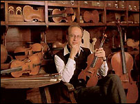 Master violin maker Mathijs Adriaan Heyligers in his shop - photo courtesy Mathijs Adriaan Heyligers