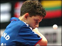 England's Danny Reed. Photo courtesy of the English Table Tennis Association.
