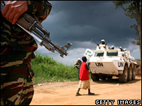 UN troops in DR Congo on 22 July 2006