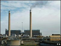 Power station. Image: PA