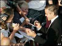 George Clooney at the premiere of Ocean's Thirteen