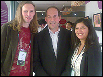 Rory Cellan-Jones with Michael and Xochi Birch