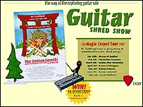 Guitar Shred Show website