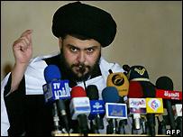 Iraqi Shia cleric Moqtada Sadr in Kufa - 25/05/2007