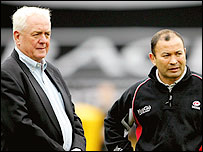 Eddie Jones (R) and Alan Gaffney
