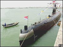 A Chinese navy submarine