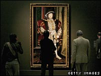 Portrait of Henry VIII at the Tate's Holbein exhibition