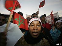 Moroccans protest against terrorism