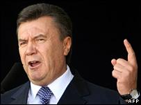 Ukrainian PM Viktor Yanukovych