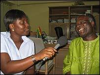 Barbara Kuukua Oppong with Ghana's Deputy Energy Minister KT Hammond