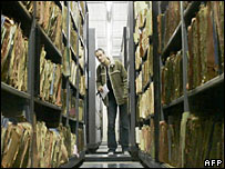 Stasi archive in Berlin (2005 file pic)
