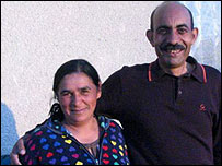 Iliya Georgiev (R) and his wife (L)