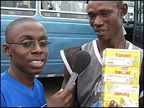 Emmanuel Acheampong Adomako and drug peddler at the Circle Bus Station