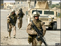 US marines in Falluja, Iraq
