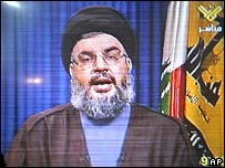Sheikh Hassan Nasrallah on TV, 25 May 2007