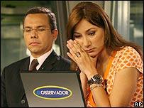 Miguel Ángel Rodríguez y Luisana Ríos, presentadores de RCTV