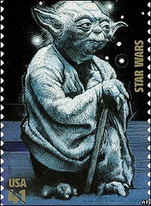 A new US stamp featuring Jedi master Yoda