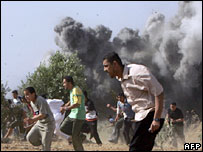 Israeli strike in the central Gaza Strip 26-5-07