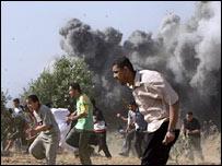 Israeli strike in the central Gaza Strip 26-5-07