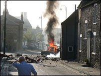 Scene of Wolsingham explosion (courtesy Alan McArdle)