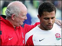 England coach Brian Ashton and skipper Jason Robinson
