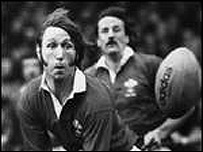 JPR Williams playing for Wales