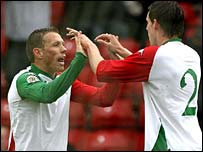 Craig Bellamy (left) and Chris Gunter