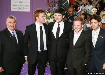 Derek Martin, Robert Kazinsky, James Alexandrou, Charlie Clements and Matt Di Angelo