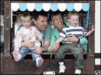 Gerry and Kate McCann with their twin children Sean and Amelie (PA/Sunday Mirror)