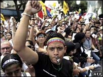 Protesters in Caracas, 26 May 2007