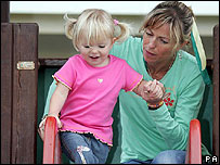 Kate McCann and her daughter Amelie (PA/Sunday Mirror)