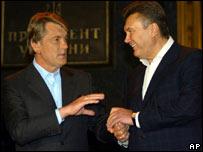 Президент Украины Виктор Ющенко и премьер-министр Виктор Янукович