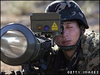 A Chinese soldier on a joint exercise in Pakistan in December 2006