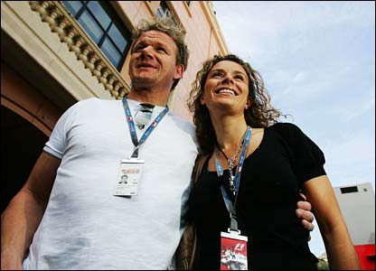 Celebrity chef Gordon Ramsay and his wife Tana