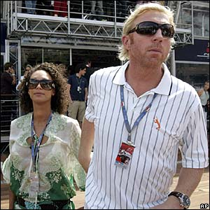 Boris Becker and his girlfriend