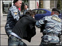 Italian MEP Marco Cappato being arrested