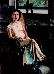 Portrait of a Lady by Xu Beihong