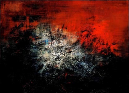 Zhao Wuji's abstract painting entitled 14.12.59