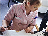 A nurse at work