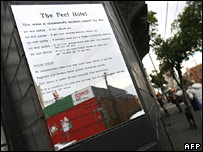 Sign of Peel Hotel, 28 May 2007