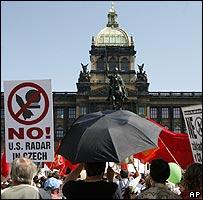 Prague protest against US radar base, 26 May 07