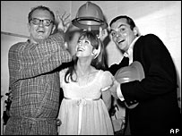 Charles Nelson Reilly, Julie Harris and Peter L Marshall in 1965 Broadway show Skyscraper
