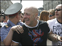 Russian police detain Richard Fairbrass of pop band Right Said Fred