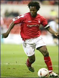David Johnson in action for Nottingham Forest
